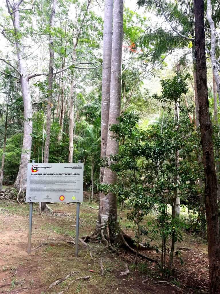 Entry point to the GIPA showing interpretative sign which tells the story of the area's history and importance