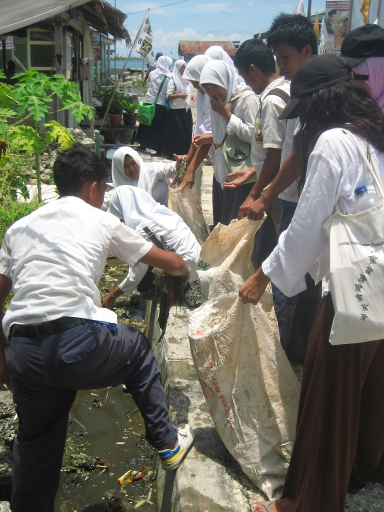 Waste audits and education program in Bintan, Indonesia